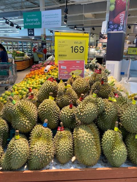 Durian Frucht Supermarkt in Chumphon