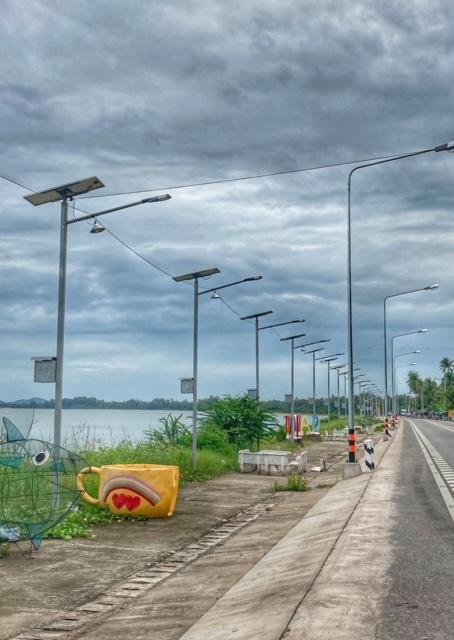 Infrastruktur Thailand Chumphon Straßenbau Hochwasserschutz