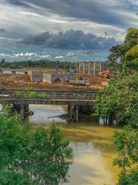 Infrastruktur Thailand Hochwasserschutz Wehrbau Chumphon