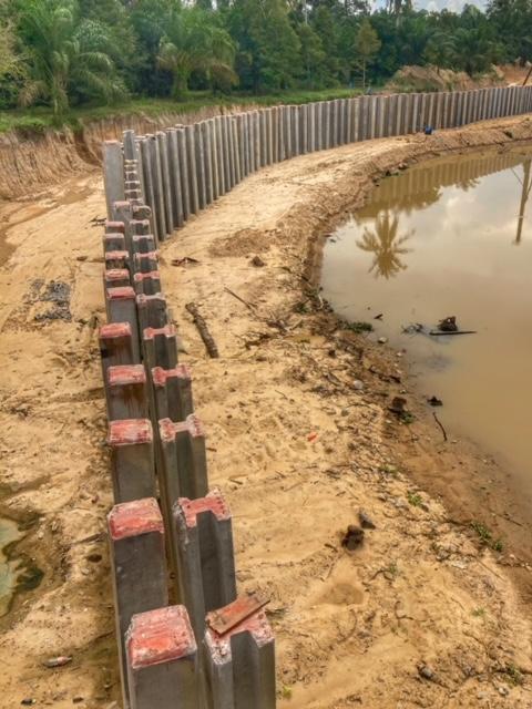 Hochwasserschutz Kanal Chumphon Thailand Infrastruktur